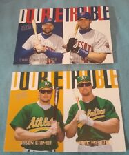 """1997 Fleer Ultra """"Double Trouble"""" Baseball Insert cards Lot Of 2 Cards #6 & 8"""