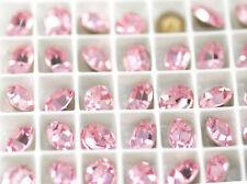 6x Swarovski Crystal Light Rose Rhinestone Oval Foiled Pale Pink 4100 10mm x 8mm