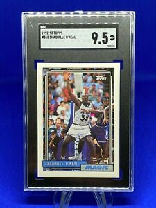 1992-93 TOPPS, SHAQUILLE O'NEAL ROOKIE!! #362 SGC MINT 9.5+ PACK FRESH NEW TUX!