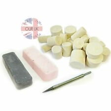 Stainless Steel Metal Polishing Kit17 compound & felts bring MIRROR FINISH back!