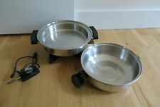 """LIFETIME #27906 ELECTRIC SKILLET 11"""" WITH DOME LID LIQUID CORE"""