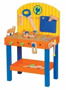 Lelin Children Kids 30 Pieces Wooden Carpenter Builder Work DIY Tool Bench Toy