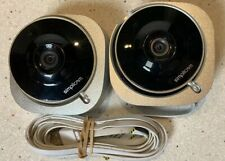 Lot of (2) SimpliCam + Powered By Closeli Indoor HD Wi-Fi Security Cameras