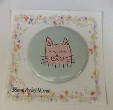 Espejo de bolsillo de maquillaje Cat Lindo Espátula de Fiesta de Cumpleaños Boda Navidad