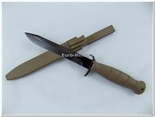 Austrian Army Tactical Combat Survival Knife w/ Sheath - Factory New - AT Knife