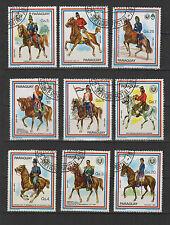 cavalier PARAGUAY 9 timbres oblitérés / T1704