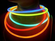 """500 22"""" SUPERIOR Assorted Glow Necklaces Sticks Bulk w/ 300 FREE Glow Bracelets"""