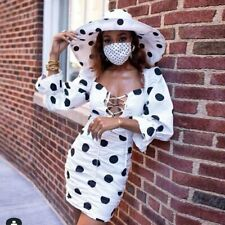 Justchicc Polka Dot Sexy Dress Women Casual Retro Long Sleeve Mini Party Dresses