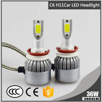 Car H8 H9 H11 C6 LED Headlight Bulb 6000K 3800LM 36W White Conversion Lamp