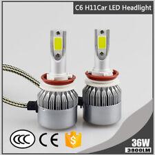 Car H8 H9 H11 C6 LED Headlight Bulb 6000K 3800LM 36W White Conversion Lamp