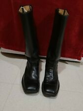 Black leather western/Infantry Boots Size 9Ee Civil War Reenactment cavalry