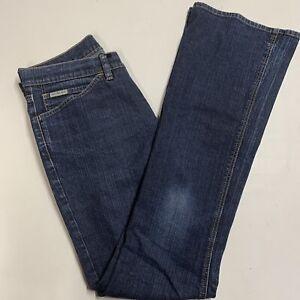 Vintage Calvin Klein Flared Jeans Blue Denim W28 L34 Genuine CK Pants Designer