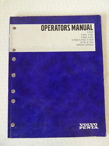 Volvo Penta Operators Manual 2000  3.0GS 4.3GL 5.0GL 5.7GS 8.1Gi DPX375 DPX420