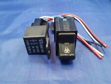 Jeep TJ Wrangler ZOMBIE Rocker Switch and 40 AMP Relay Snaps in Stock Panel NEW