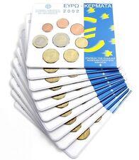 10 x Griechenland 3,88 Euro Kursmünzensatz 2002 Stgl. KMS im Blister