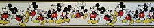Mickey Mouse Acting Figures Wallpaper Border