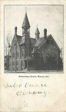 c1907 Printed Postcard; Presbyterian Church, Warsaw IN Kosciusko County Posted