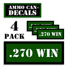 "270 WIN Ammo Can 4x Labels Ammunition Case 3""x1.15"" stickers decals 4 pack GR"