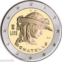 2 Euro Gedenkmünze/Sondermünze Italien 2016 Donatello