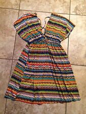 SUPER CUTE TRIBAL PATTERN SWIMSUIT COVER UP DRESS M/L