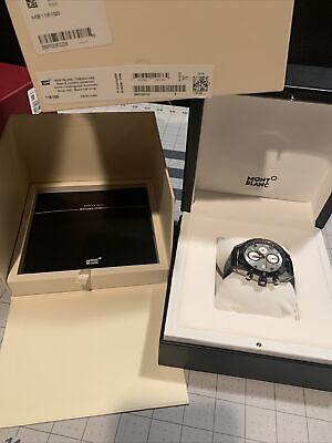 Montblanc Men's Watch TimeWalker Chronograph Automatic Black Dial Date Boxed