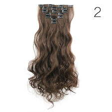 Full Head Clip in Hair Extensions 7PCS 16 Clips Real Long Natural as Human LADY