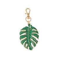 1 Pc Keychain Decorative Green Leaf Fine Pendant for Wallet Handbag Cars