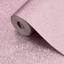 Muriva Metallic Luxury Shimmer Pink Heavyweight Vinyl Textured Wallpaper 701378