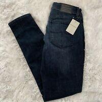 "Lucky Brand Womens Size 2 / 26 Dark Blue Denim Ankle Jeans 29"" Inseam NWT"