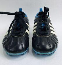 ADIDAS ADI-NOVA SOCCER CLEATS - BLACK BLUE WHITE size 13K YOUTH