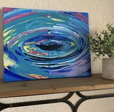 ORIGINAL SIGNED ART PAINTING ABSTRACT IMPRESSIONISM ACRYLIC WATER