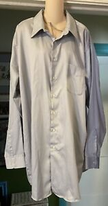 """Preowned """"Geoffrey Beene"""" Mens Dress Shirt Size 19 37/38 Tall..greyish color"""