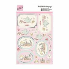 ANITAS FOILED DECOUPAGE TEA AND CAKE TOPPERS FOR CARDS & CRAFTS