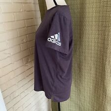 Adidas Climachill Womens Purple Silver Short Sleeve T-Shirt Athletic Large