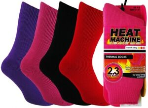 Ladies Extra Thick 2.3tog Brushed Insulated Thermal Socks Heat Machine Xmas Gift