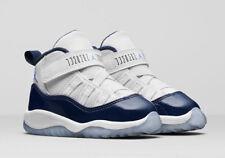 DS Nike Air Jordan 11 Retro Toddler 378040 123 White/University Blue Size 7C NIB