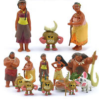 12Pcs Set Movie Moana Action Figure Dolls Toy Kids Party Cake Topper Decor Gifts