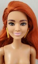 New Nude Barbie Doll Fashionistas #141 Redhead Red Hair Dimples Tan Skin