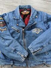 vintage HARLEY DAVIDSON motorcycle DENIM jacket L blue jean
