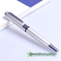 free shipping jinhao 250 silver white Medium nib fountain pen new