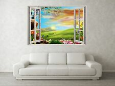 Nursery Scene 3D Full Colour Window Home Wall Art Stickers Mural Decal