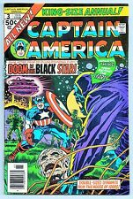 CAPTAIN AMERICA ANNUAL #3 (MARVEL COMICS 1976) VF+ (JACK KIRBY STORY AND ART!)