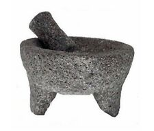 "8.5"" Lava Rock Molcajete Mortar And Pestle Mexican Style Molcajete"