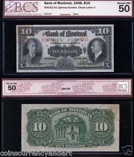 1938  Bank Of Montreal $10