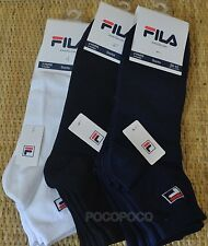 3 Pairs Half Socks Unisex Cotton Fila