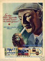 GEG Zigaretten XL Reklame von 1930 Raucher Zigarettenfabrik Altona Phantis Kisil
