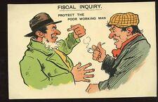 Political sartire c1903 Free Trade versus Protect jobs comic PPC Fiscal Inquiry