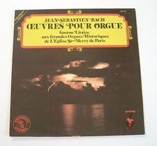 """J.S. BACH """"Œuvres pour orgue - Gaston Litaize"""" (Vinyle 33t / LP)"""