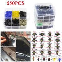 650PCS 22 Sizes Car Auto Bumper Door Trim Fasteners Set Repair Parts Clip Rivet
