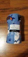 Blue Dogs Fleece Throw Blanket Mainstays 50x60 Bulldog Boston Chihuahua Pet Dog